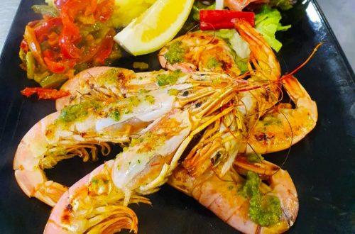 """La """"gamba""""(crevette) est une vraie star chez Restaurant El Carlit au Pas de la Case c'est aussi un véritable aliment santé"""