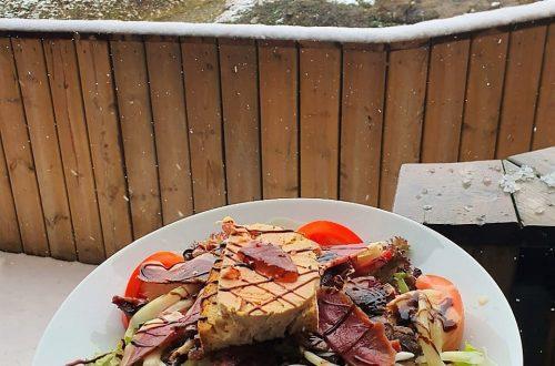"""Salade Gormanda au jambon de canard et """"foie frais"""""""